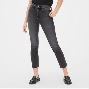 Gap High-Rise Cigarette Jeans w Smoothing Pockets